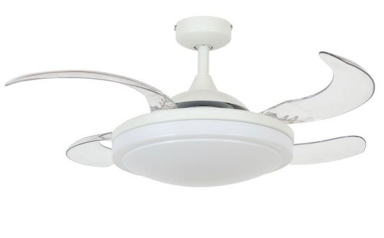Fan with retractable blades White