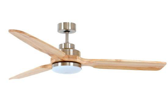Ventilator mit Stahl und Holzlicht