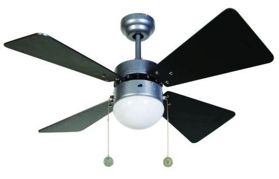 Ventilatore con luce Breezer silver