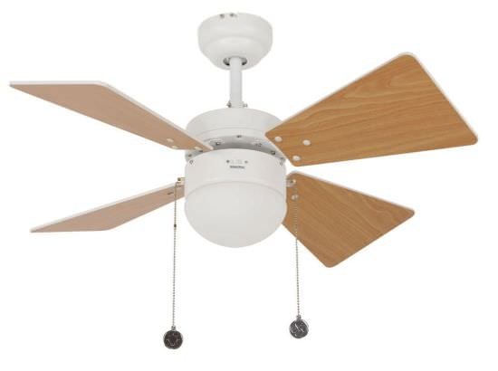 Small Ceiling Fan with Light Kit White
