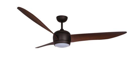 Ventilator mit Licht 3 Flügel Braun