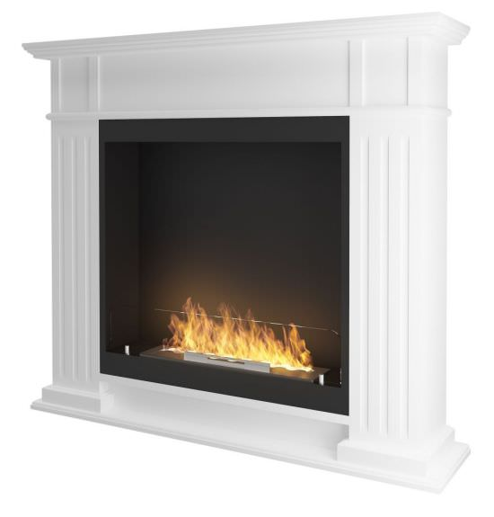 Classic fireplace with ethanol burner