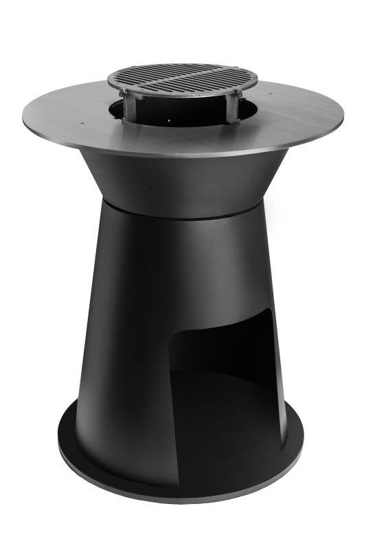 BBQ Diesis Black mit Grillplatte und Ros