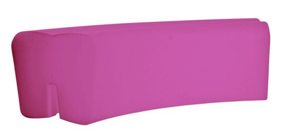 Fuchsia resin bench for outdoor furnitur
