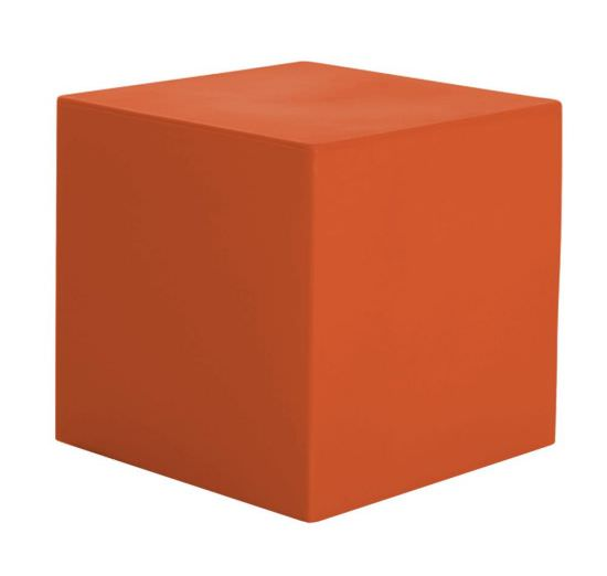 Resin cube 41 cm color Orange