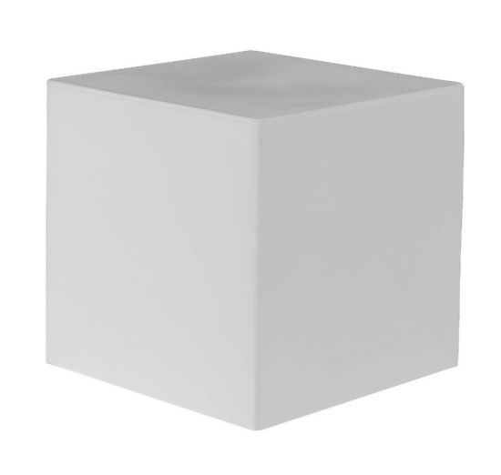 Multipurpose cube in White Resin 41 cm
