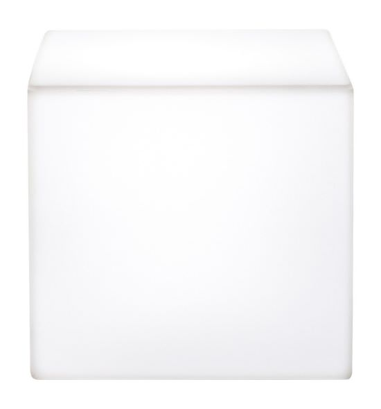 Resin cube 41 cm White
