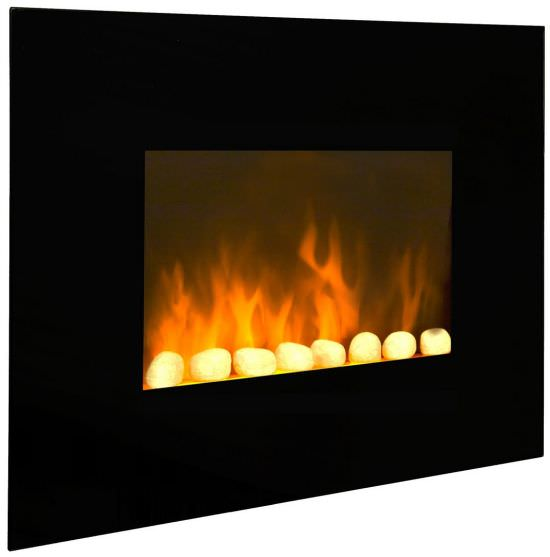 Electric wall fireplace Black Fire