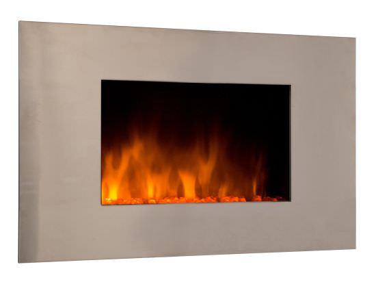 Modern wall fireplace Pure Inox