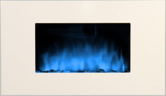 White wall fireplace with Remote Control