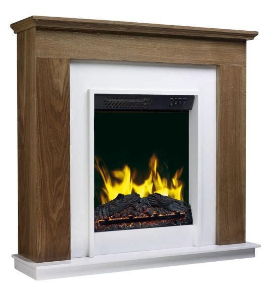 Assembled electric fireplace Megeve