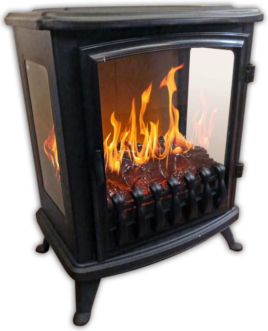 Cheminee mobile Fire Glass Noir