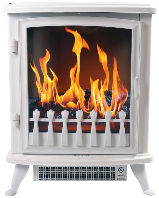 Portable fireplace Fire Glass White