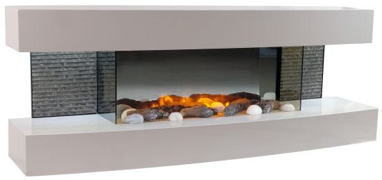 Wall mounted electric fireplace Lounge