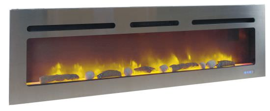 Recessed Fireplace Brite Inox 3XL