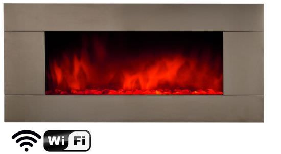Electric fireplace for wifi wall