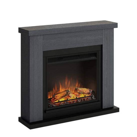 Complete electric fireplace Grey