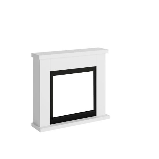 frame fireplace white model Frode