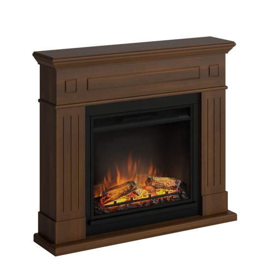 Complete floorstanding fireplace