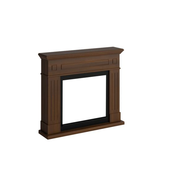 frame fireplace Walnut Larsen model