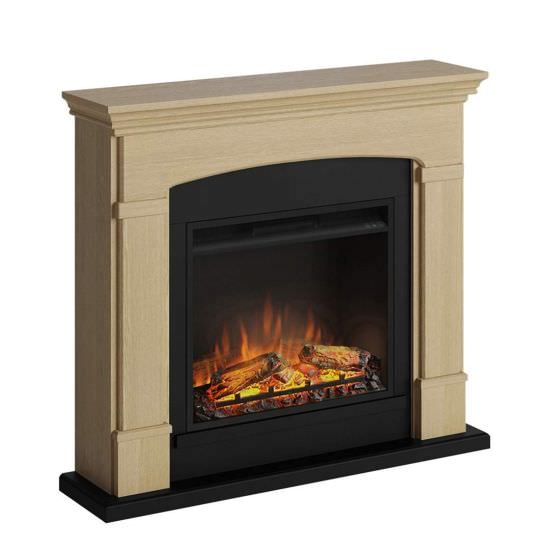 Wallmounted fireplace