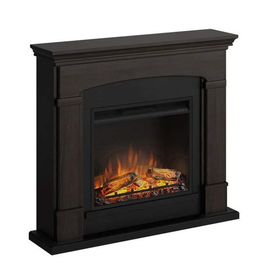 Complete wallmounted fireplace