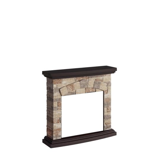 frame fireplace Stone color Cream model