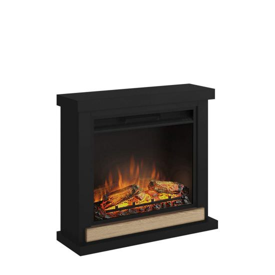 Black Hagen complete electric fireplace