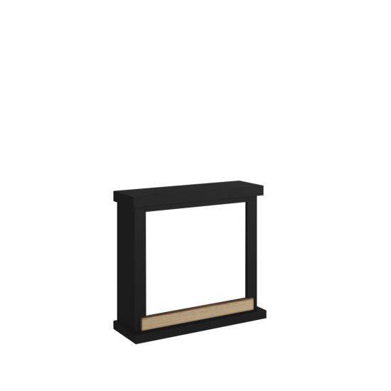 frame fireplace Black Deep model Hagen