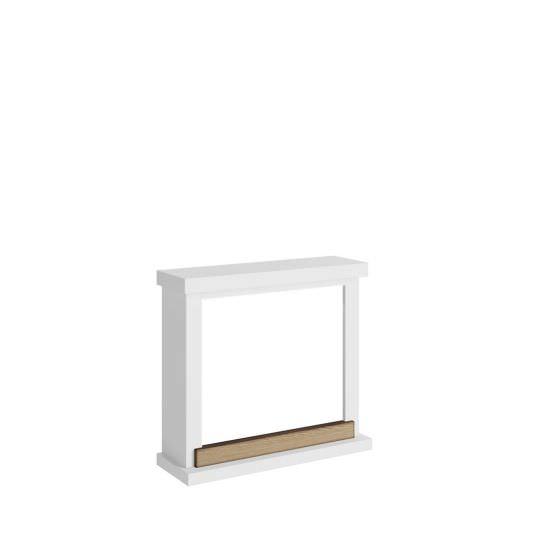 frame fireplace white Puro model Hagen