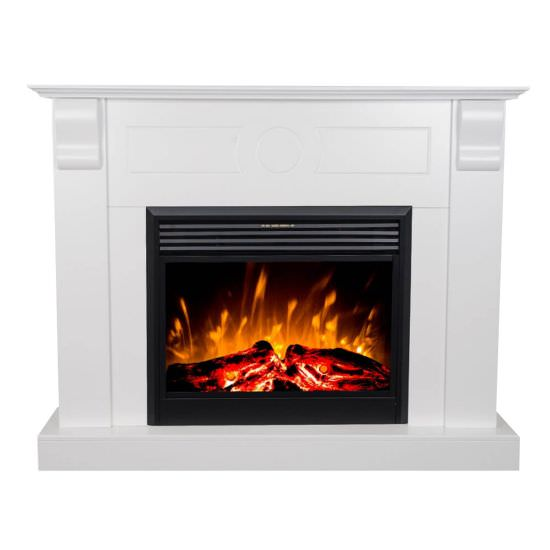 White Chronos Led fireplace