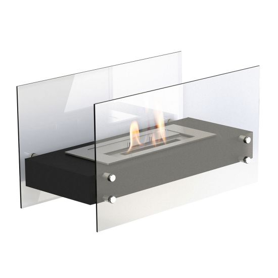 Falun Black ethanol fireplace