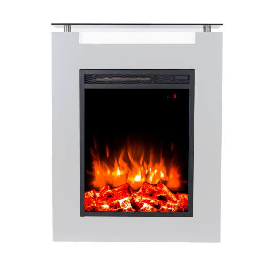 Gaia Bianco electric floor standing fire