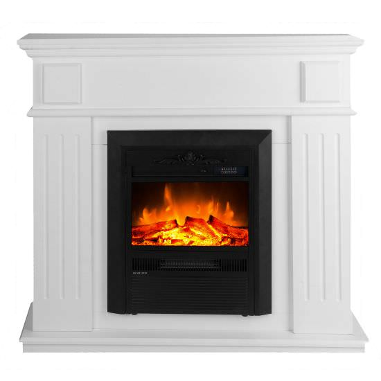 Classic Led fireplace Helios White