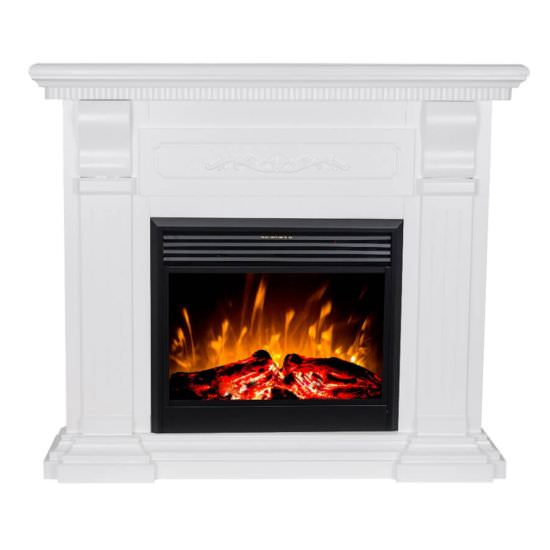 Electric fireplace Hermes White