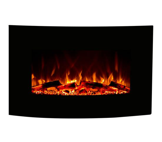 Electric Jupiter Led fireplace Black