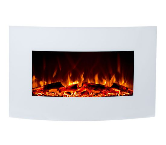 Jupiter WHITE LED electric fireplace