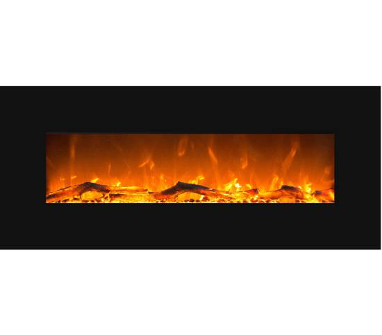 Black Mars decorative wall fireplace