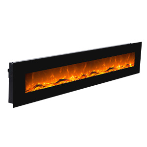Wallmounted fireplace Mars XL Black