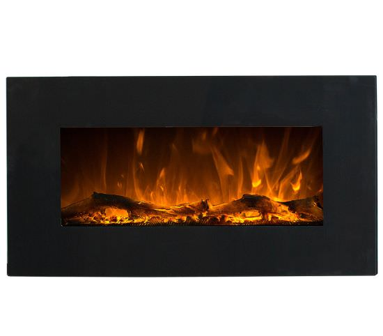 Electric wallmounted Black Led fireplace