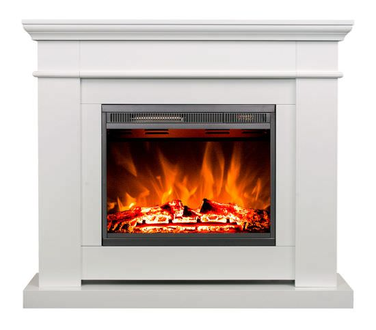 Modern Led Poseidon White Fireplace