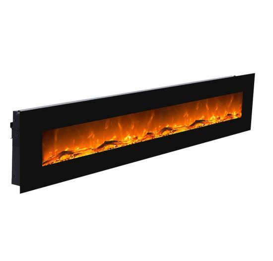 Electric wall fireplace Black Led