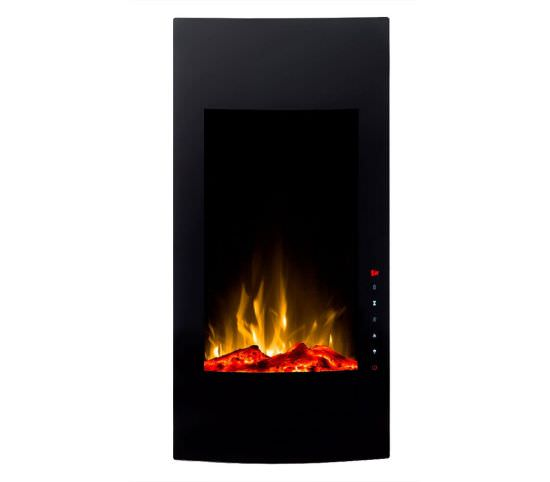 Uranus Black Led Upright Fireplace