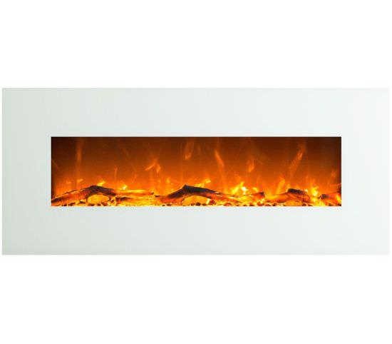 Led wall fireplace Venus White