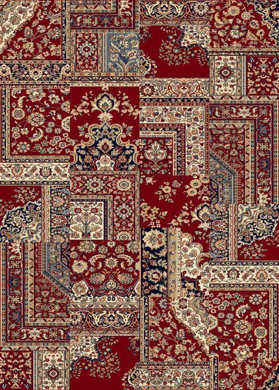 Tappeto orientale rosso Ninfea 160x230