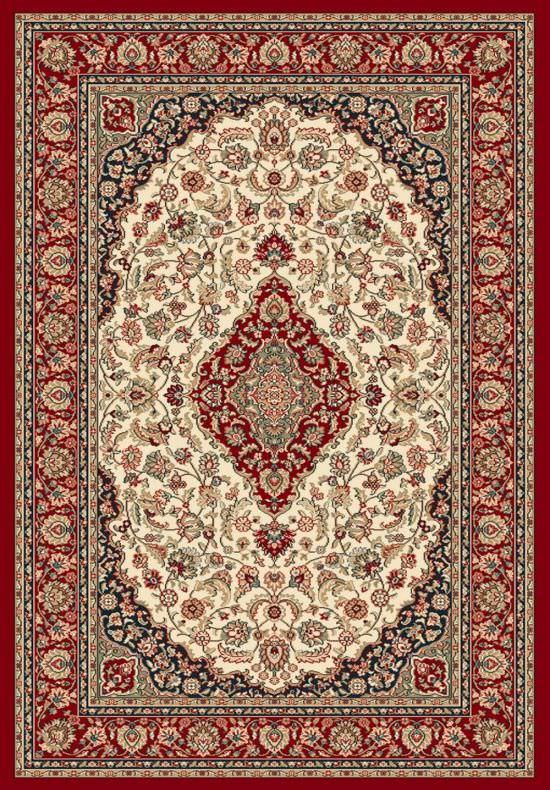 Tappeto classico Ninfea Rosso 80x150 cm