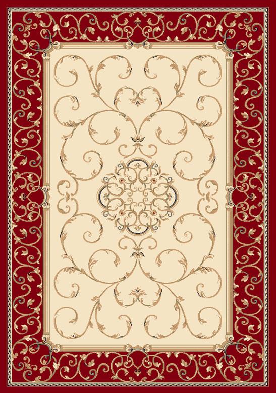 Tappeto Ninfea Rosso e Beige 160x230 cm