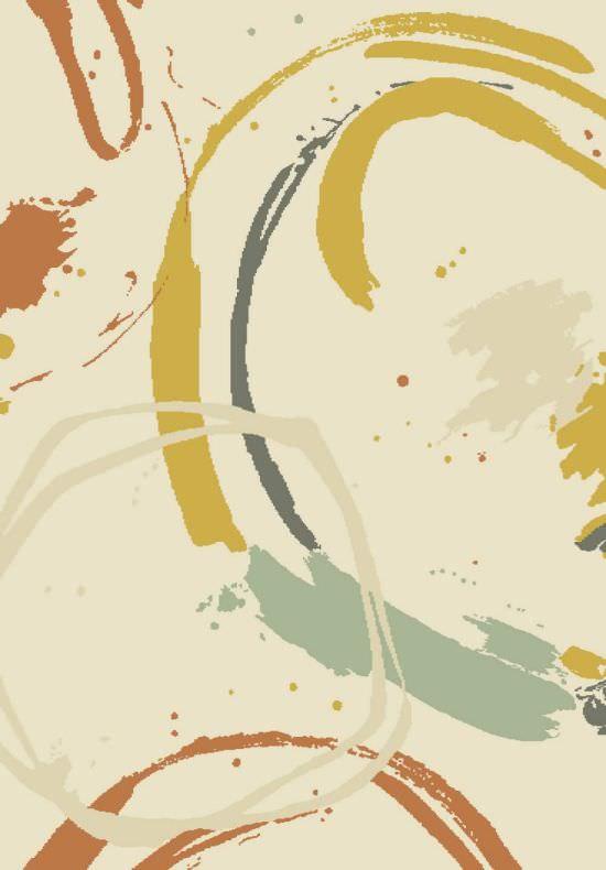 Tappeto multicolore Brush 160x230 cm