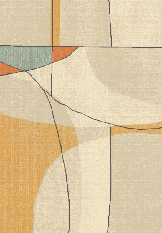 Tappeto Brush Avorio e Arancione 120x170