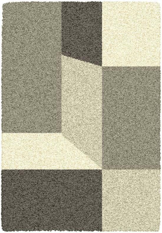 Geometrischer Zimmerteppich Lila Mit Elfenbeinfarbenen Grautonen